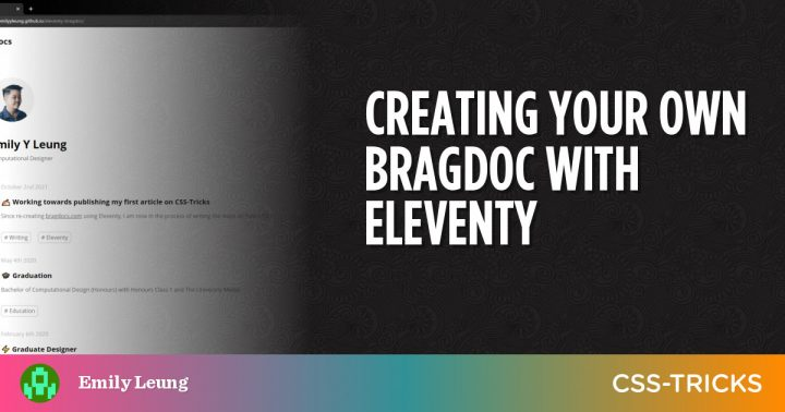 Creating Your Own Bragdoc With Eleventy